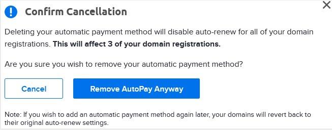 DreamHost美国主机如何禁用自动付款支付